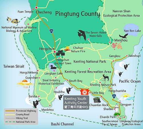 Kenting map
