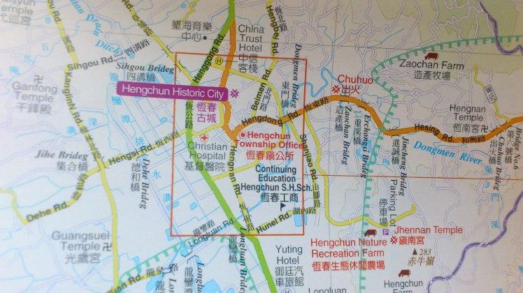 Henchun Town Map
