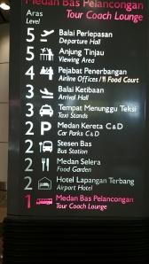 Directory board at level 1 near lift at KLIA