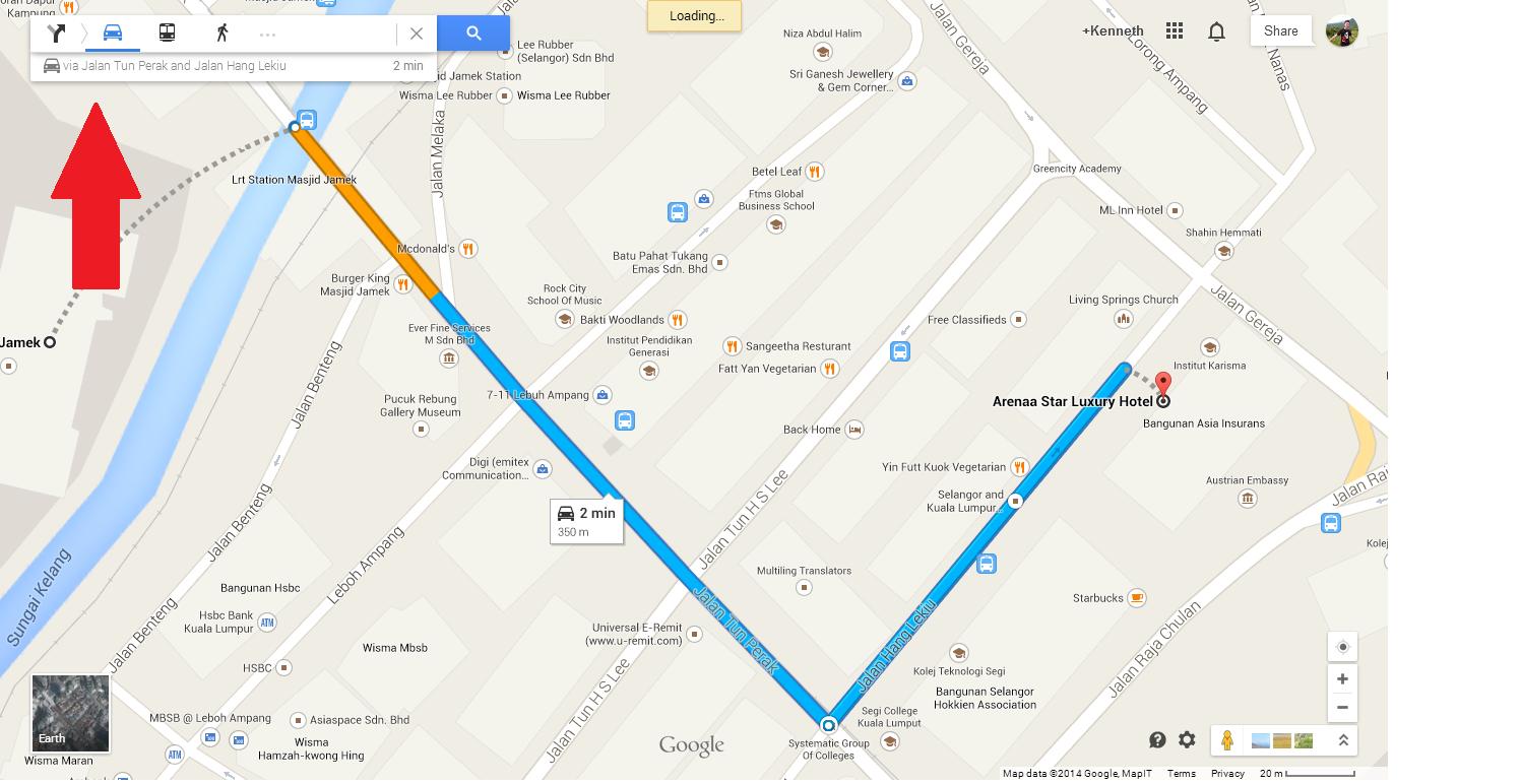 Kuala Lumpur August 2014 Getting To Arenaa Star Hotel Money