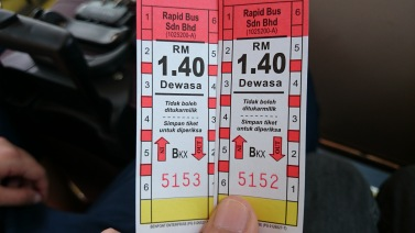 The bus tickets
