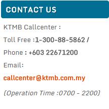 ktmb contact details